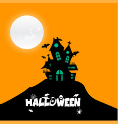 happy halloween design element with typography vector image