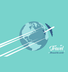 Happy travel and holiday background vector