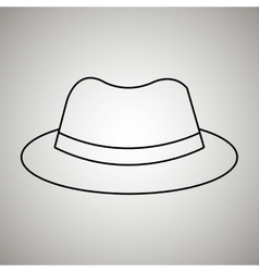 Hat icon design vector