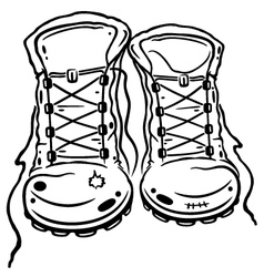 Hiking boots vector