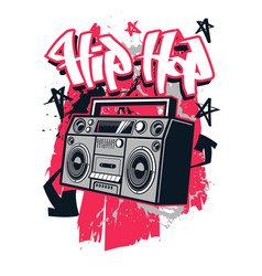 Hip hop style t shirt design vector