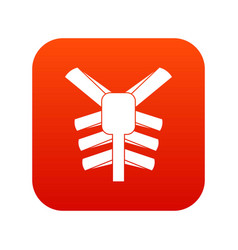 Human thorax icon digital red vector