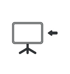 icon concept presentation chart with arrow vector image