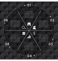 Infographic Circular Chart Template vector