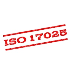 ISO 17025 Watermark Stamp vector image