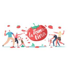 La tomatina tomato festival celebration concept vector