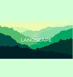 landscape with silhouettes mountains vector image