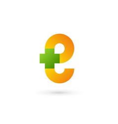 letter e cross plus logo icon design template vector image