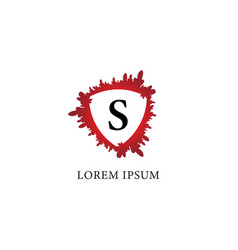 Letter s alphabet logo design template splash of vector