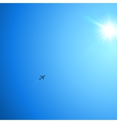 Little plane flying to the sun vector image