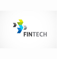Logo for fintech and digital finance industry vector