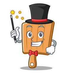 magician kitchen board character cartoon vector image vector image