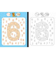 Maze number 6 vector