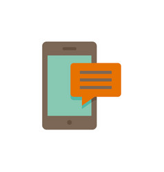 mobile message icon vector image