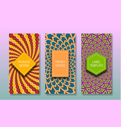 Optical illusion packaging design colorful moving vector