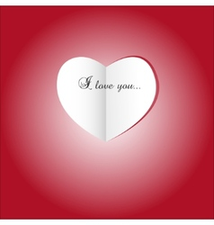 Paper heart St valentines day vector