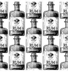 pattern with bottles alcohol distilled beverage vector image