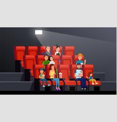 people watching movie vector image