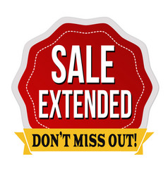 Sale extended label or sticker vector