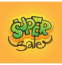 Sale in graffiti style Doodle vector