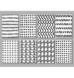 Scribble hand drawing textures set vector image