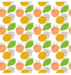 seamless wrap pattern fruit element elegant vector image