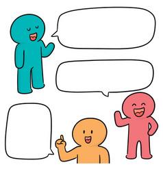 Set of people talking vector