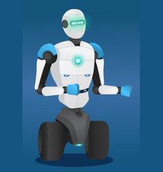 smart metal machine robotic technology vector image