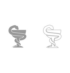 Snake and cup it is black icon vector