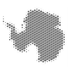 soccer ball antarctica map mosaic vector image