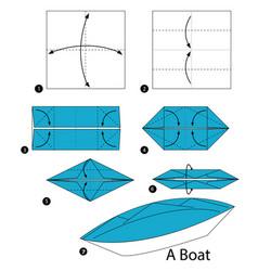 Paper Boat Steps Vector Images 40