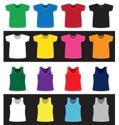 T-shirts and shirts different colors without vector