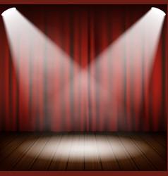 theatrical scene vector image