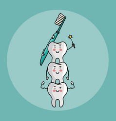 Tooth fairy and dental care vector