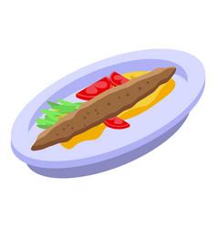 Turkish baked food icon isometric style vector