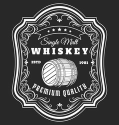 Whiskey barrel label vector