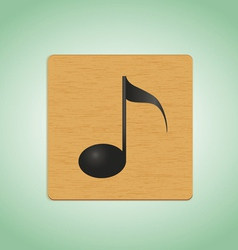 wooden plate note vector image