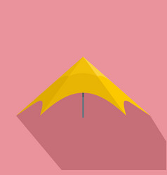 yellow event tent icon flat style vector image