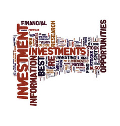best investment opportunities how to spot one vector image vector image