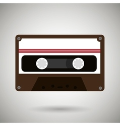 cassette tape design vector image