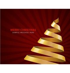 Christmas tree from ribbon vector image