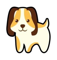 cute puppy little pet domestic vector image vector image