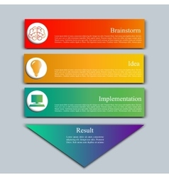 Stock set of infographics vector image vector image