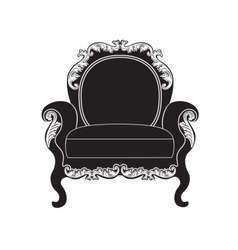 Vintage upholstered armchai vector