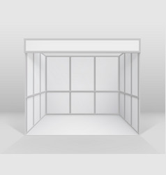 White indoor trade stand isolated with background vector