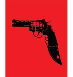 Cartoon knife gun vector image
