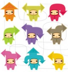 communication arrows vector image vector image