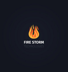 fire storm technologies logo template vector image