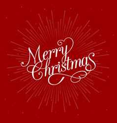 merry christmas calligraphic design vector image vector image