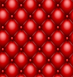red upholstery texture vector image vector image